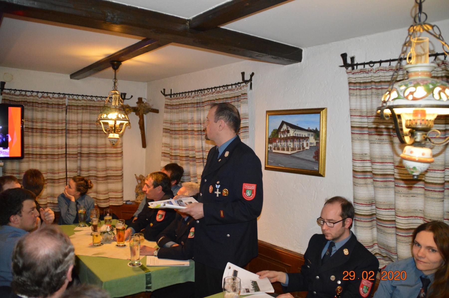 Bericht des Kommandanten Stephan Neumeier